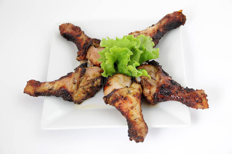 Coscie di pollo arrostite (bacchette) immagini stock libere da diritti