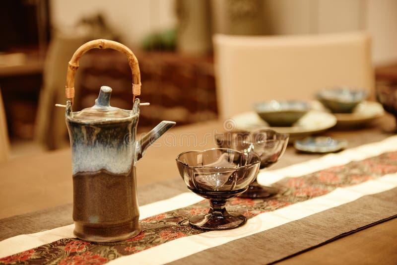 Cose cinesi del tè dell'insieme di tè immagini stock libere da diritti