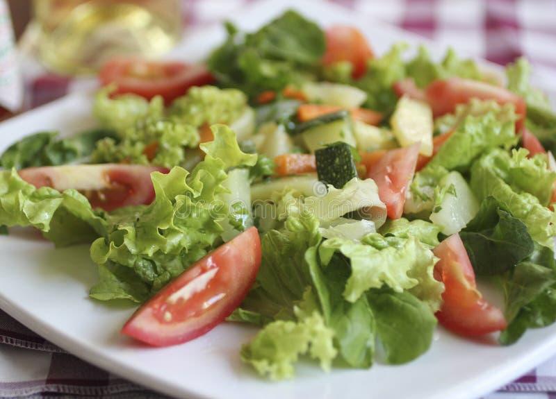 Cose up of a fresh green salad, healty, organic food stock photo