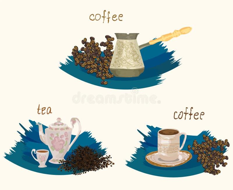 Cose watercolor_2 di Clipart_old illustrazione vettoriale