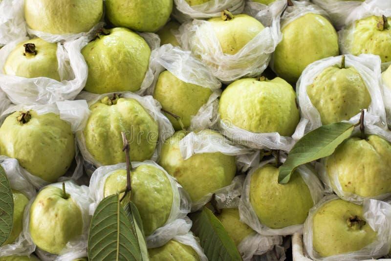 Cosecha de las frutas de guayaba de Guayaba en tienda de la fruta foto de archivo