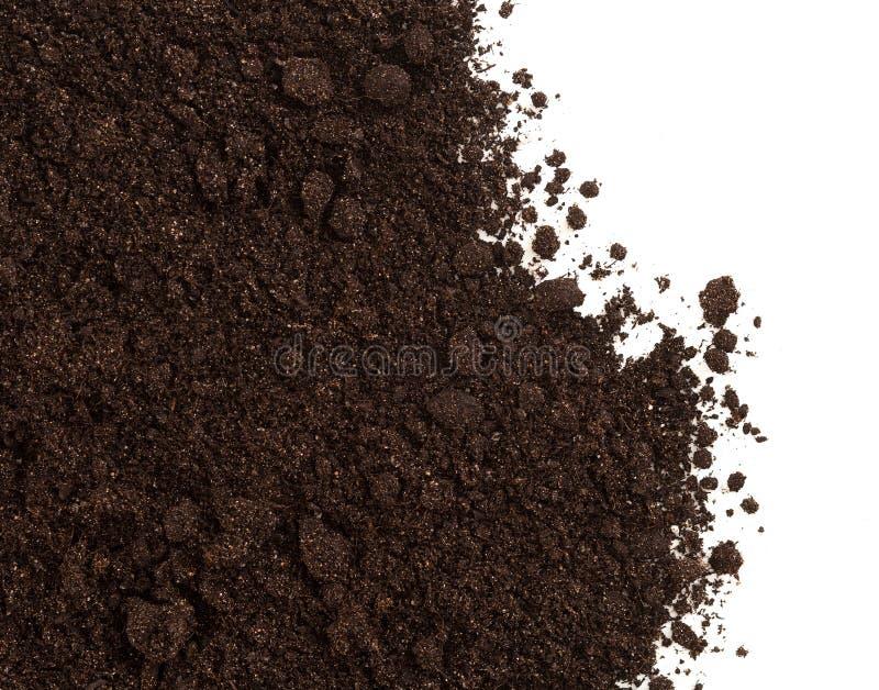Cosecha del suelo o de la suciedad aislada en blanco foto de archivo libre de regalías