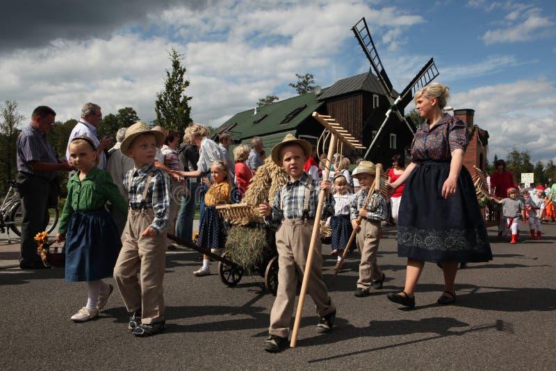 Coseche el festival en la región de Spreewald, un Lusatia más bajo, Alemania foto de archivo libre de regalías