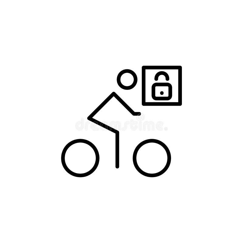 Cosed для bicycling бесплатная иллюстрация