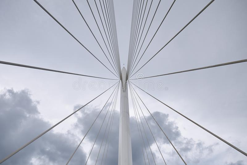 Santiago Calatrava bridge. Cosenza, Italy - June 13, 2018 : Santiago Calatrava bridge in Cosenza stock image