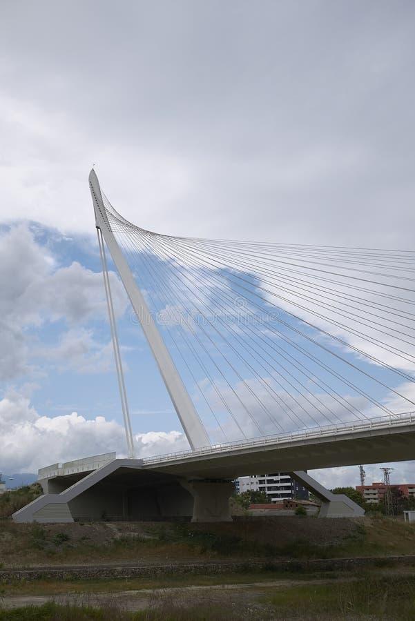 Santiago Calatrava bridge. Cosenza, Italy - June 13, 2018 : Santiago Calatrava bridge in Cosenza stock photography