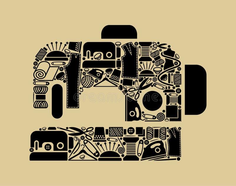 Coser-máquina libre illustration