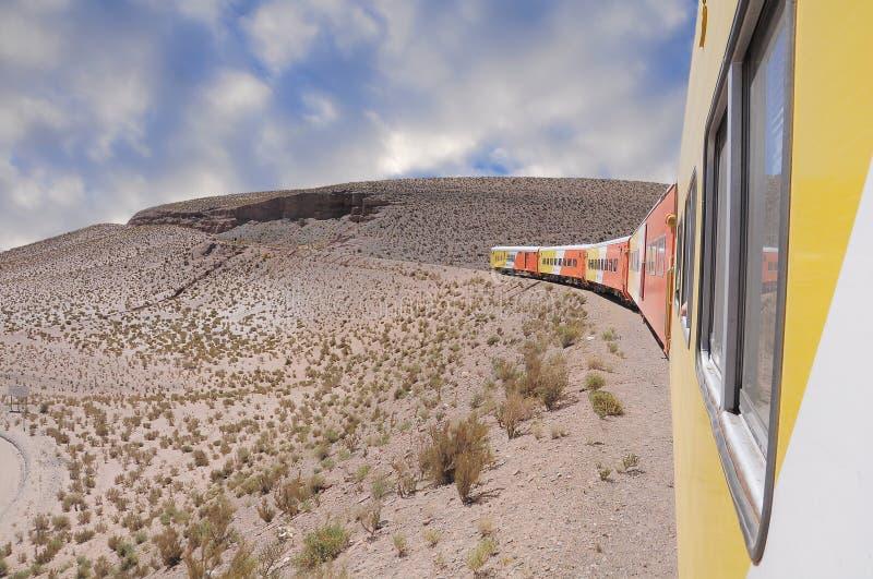 """Cosiddetto """"Tren nubes di las (treno alle nuvole)"""". fotografia stock"""