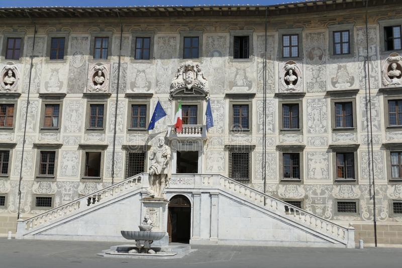 Pisa - Cosimo de` Medici statue. Cosimo de` Medici marble statue in Knights square in Pisa, Tuscany, Italy stock photo