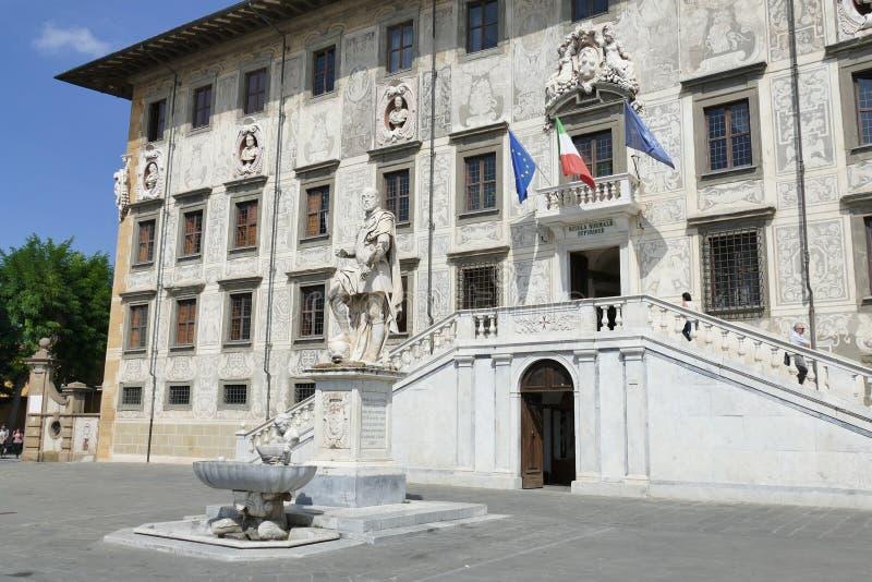Pisa - Cosimo de` Medici statue. Cosimo de` Medici marble statue in Knights square in Pisa, Tuscany, Italy stock image