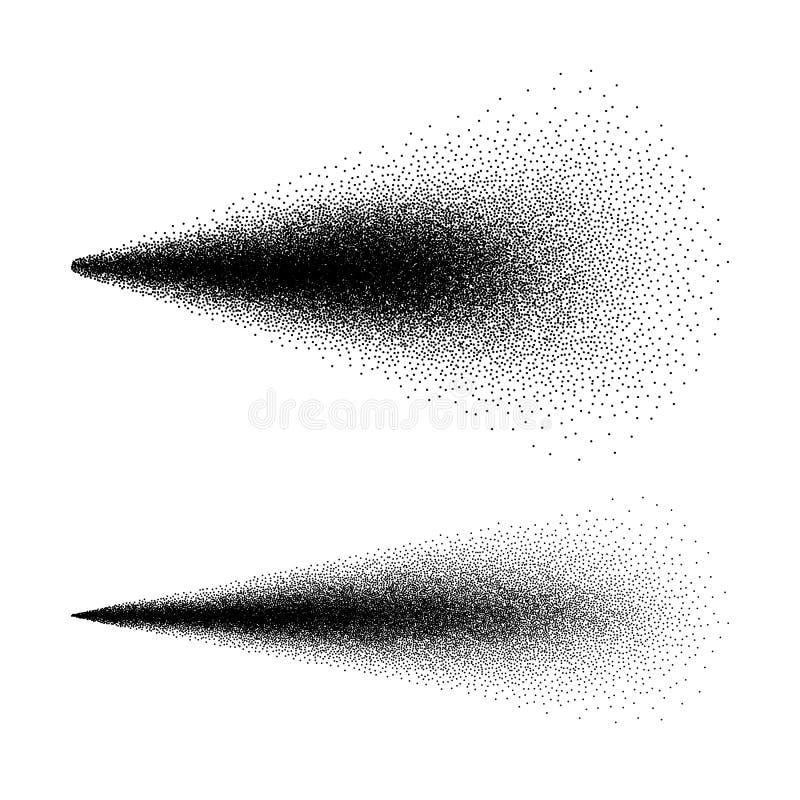 Cosmético del espray de agua Efecto del espray Espray de la niebla aislado en el fondo blanco Ilustración del vector stock de ilustración