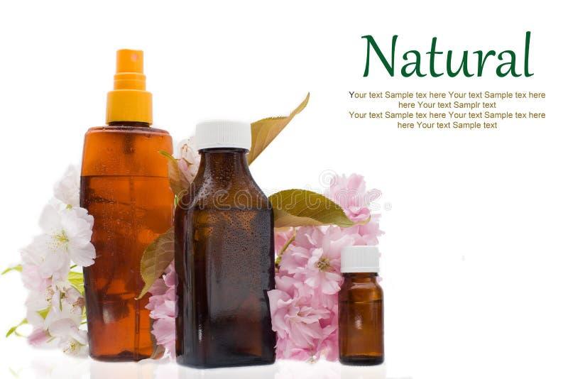 Cosmético natural - cuidados com a pele do óleo essencial, medicina alternativa fotografia de stock