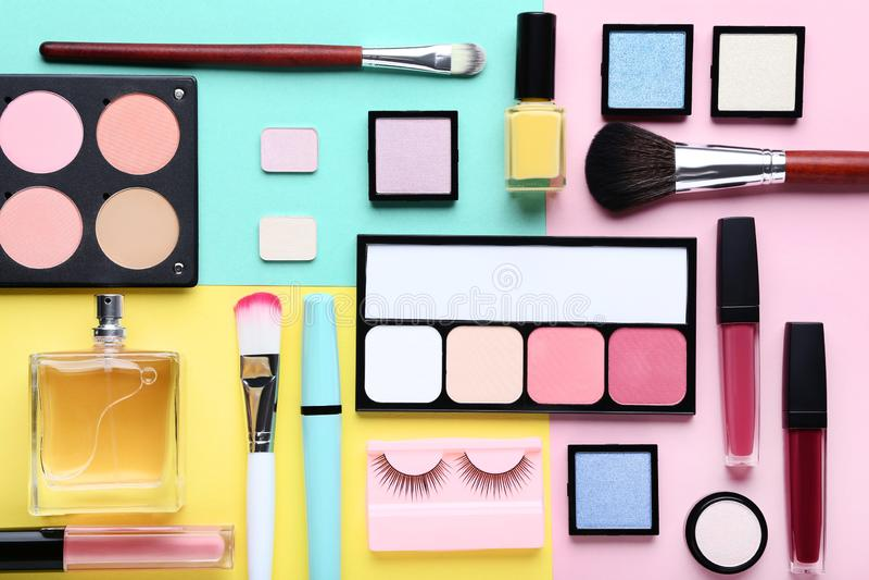 Cosméticos del maquillaje fotografía de archivo libre de regalías