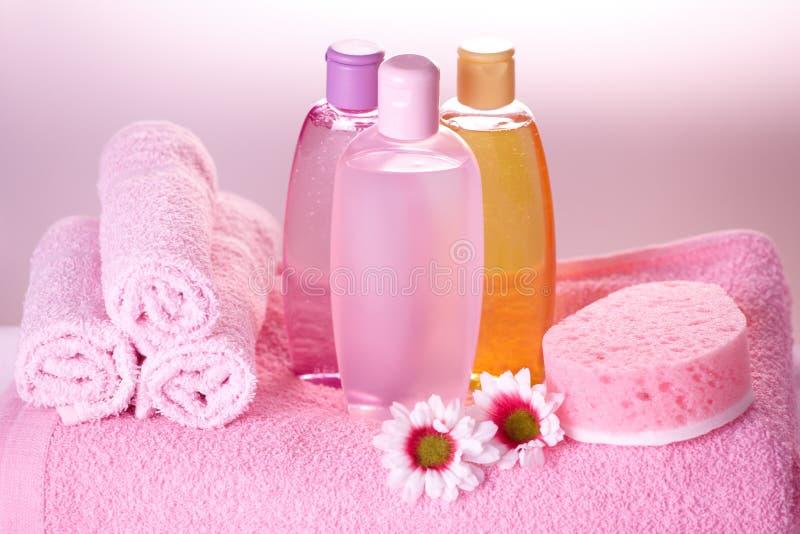 Download Cosméticos Do Cuidado Do Banho Foto de Stock - Imagem de relaxation, terapia: 12805284