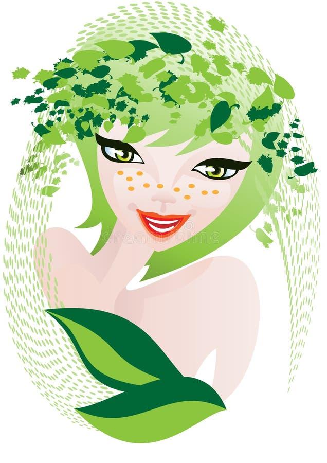Cosméticos ervais naturais ilustração royalty free