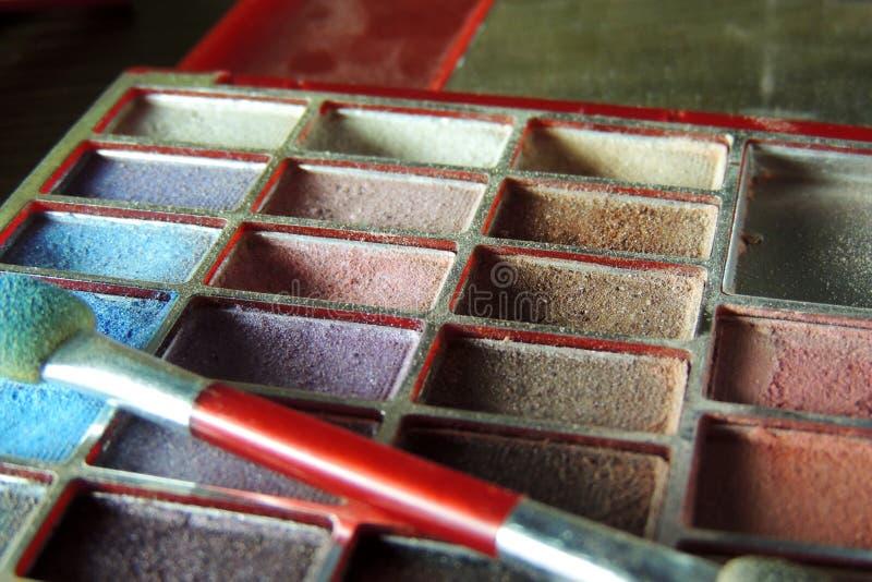 Cosméticos Sombra de ojos fotografía de archivo libre de regalías