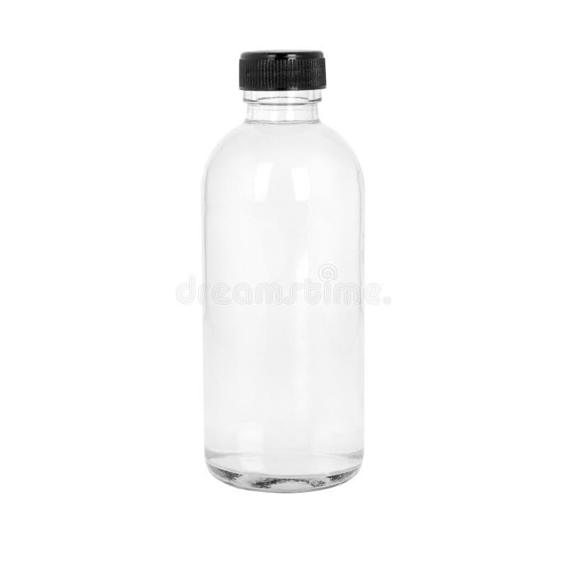 Cosmétique ou bouteille transparent de médecine images stock