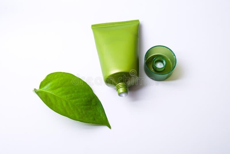 Cosmétique vert photos stock