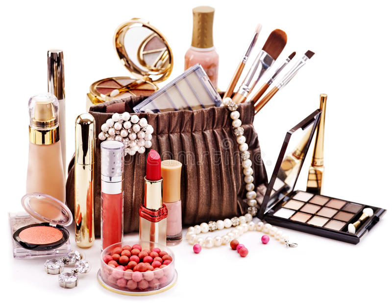 Cosmétiques Décoratifs Pour Le Maquillage. Images libres de droits