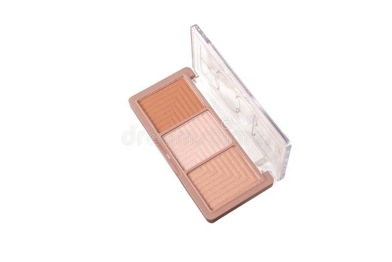 Cosmétiques pour le maquillage de visage highlighter bronzer Illuminizer rougissez photos libres de droits