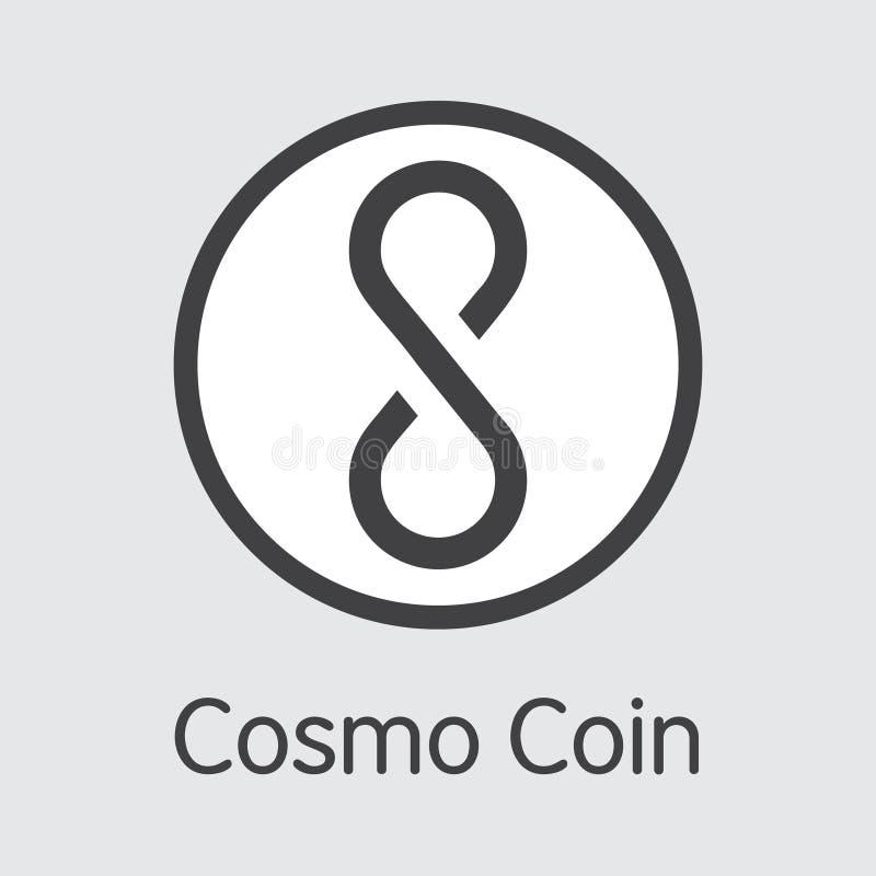 COSM - Cosmo-Münze Das Markt-Logo des Münzen-oder Markt-Emblems stock abbildung