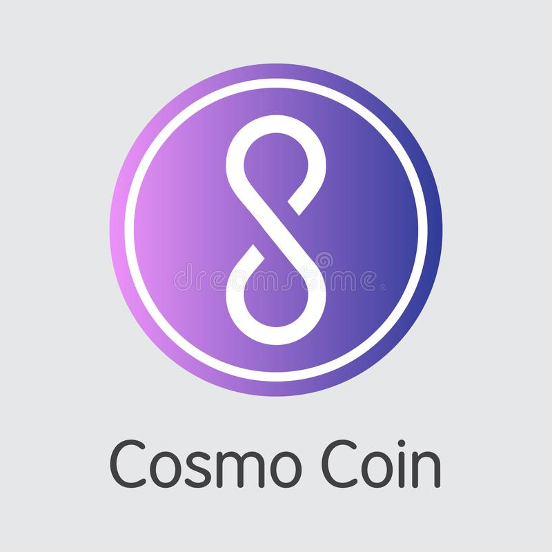 COSM - Cosmo-Münze Das Markt-Logo des Münzen-oder Markt-Emblems vektor abbildung