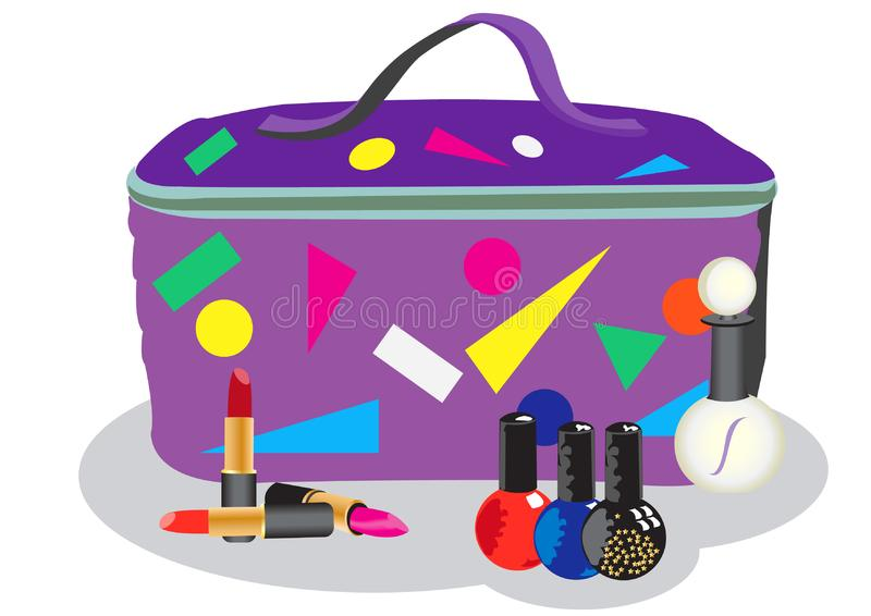 Cosmetic bag royalty free stock image