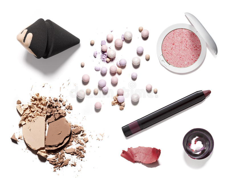 Cosmetic and beauty products royalty free stock images