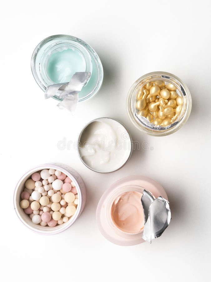 Cosmetic and body care products stock photo