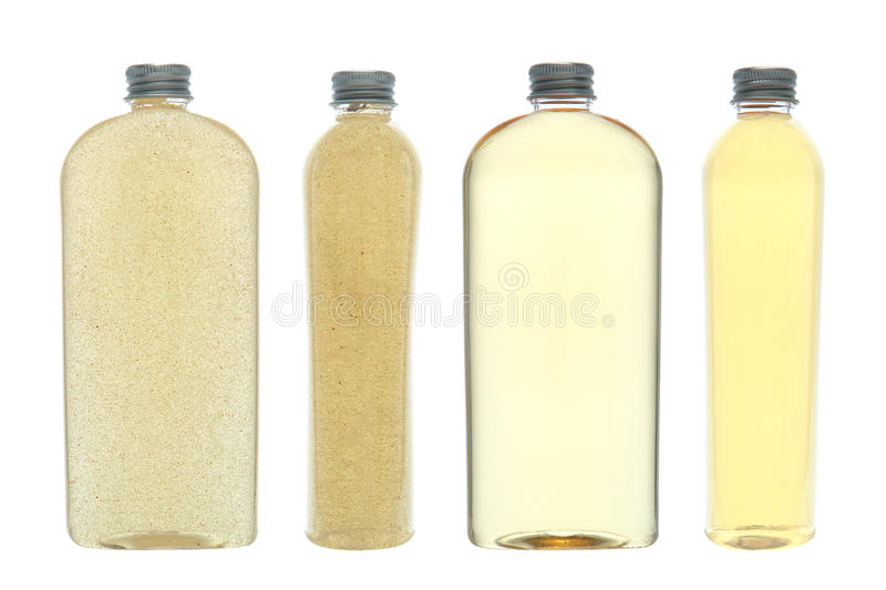 Download Cosmetic Body Wash And Scrub Bottles Isolated Royalty Free Stock Image - Image: 19542216