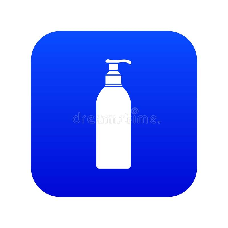Cosmetic bottle icon digital blue stock illustration