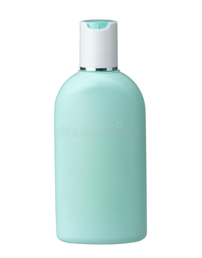 Cosmetic bottle without label stock photo
