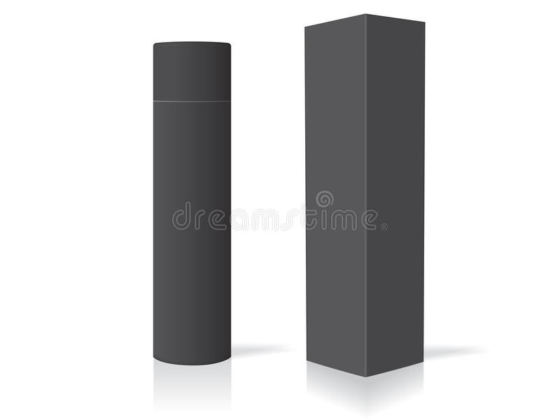 Cosmetic bottle for your design and logo royalty free illustration