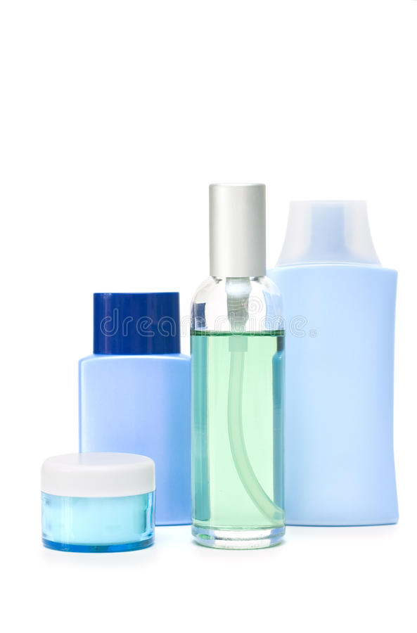 Download Cosmetic bottles stock photo. Image of green, makeup - 14331714