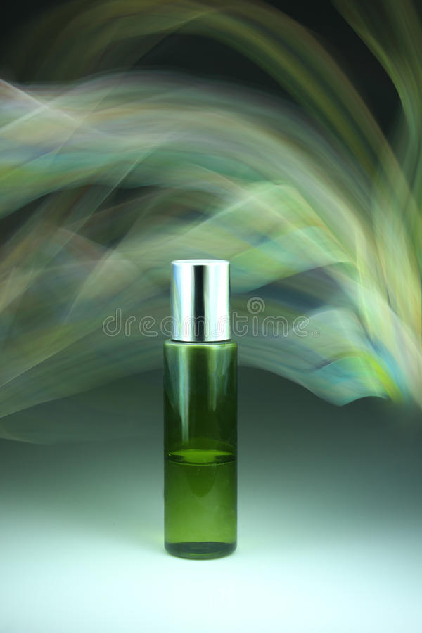 Cosmetic bottles. And colorful background vector illustration