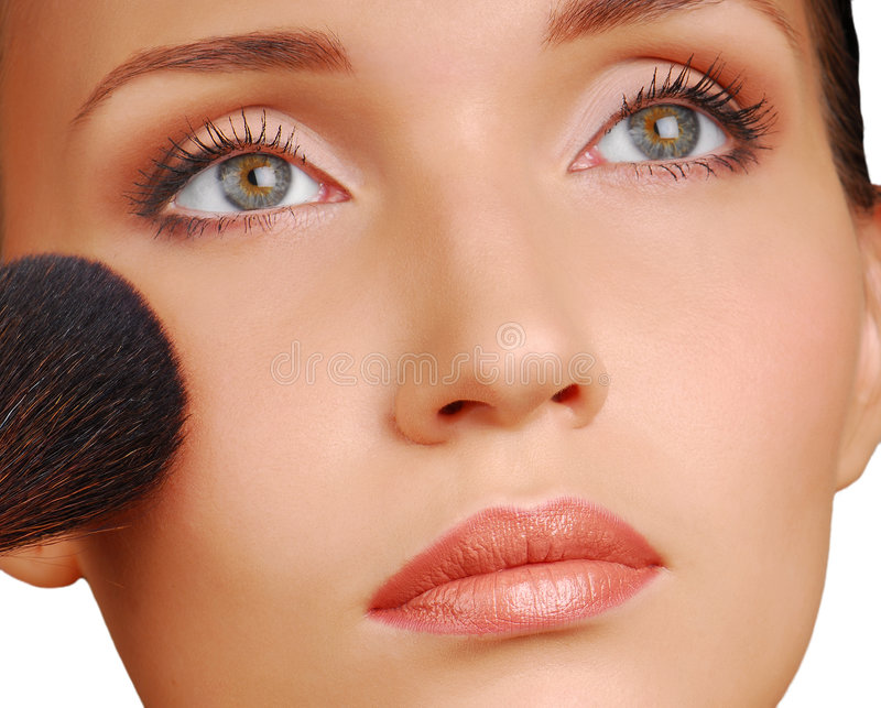 Download Cosmetic brush stock photo. Image of powder, shadow, sight - 3295682