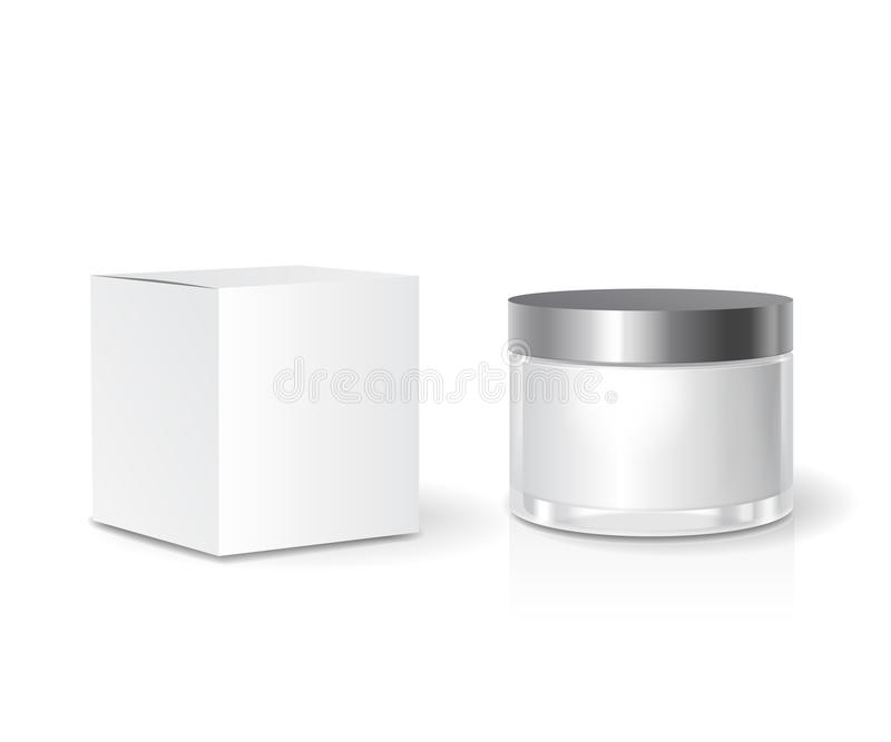 Cosmetic Collection Box And Skin Care Cream Jar Template, Blank ...