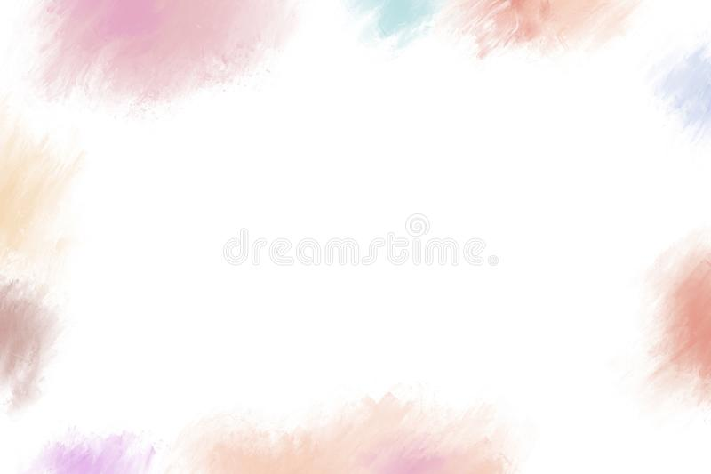 Cosmetic color brush stroke on white background with copy space. For design work stock illustration