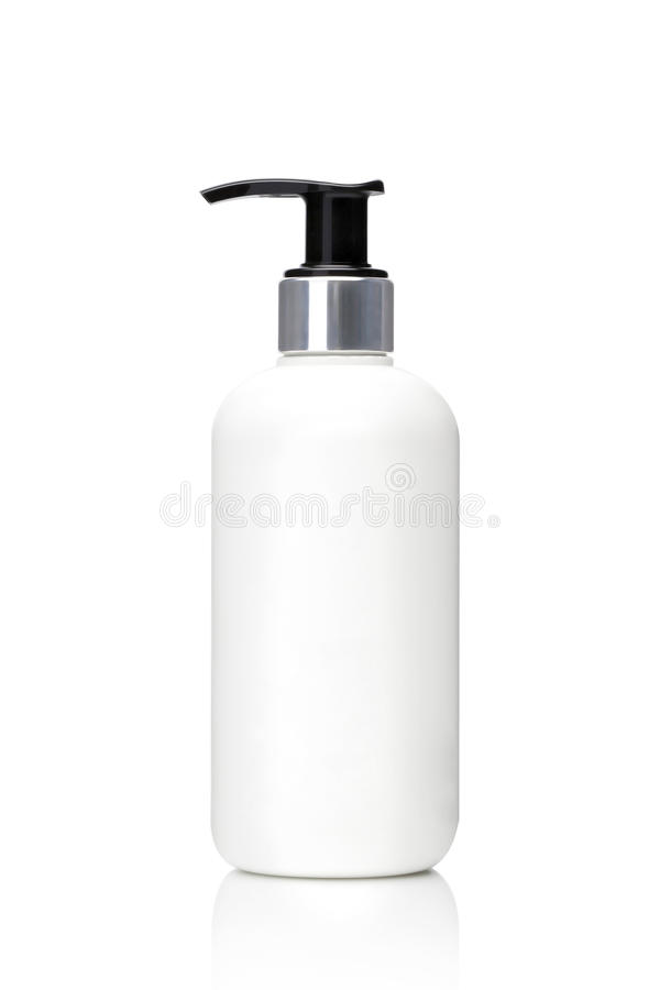 Cosmetic container with black pump royalty free stock photos