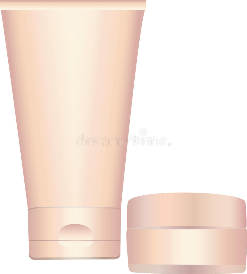 Download Cosmetic containers. stock vector. Illustration of makeup - 17914674