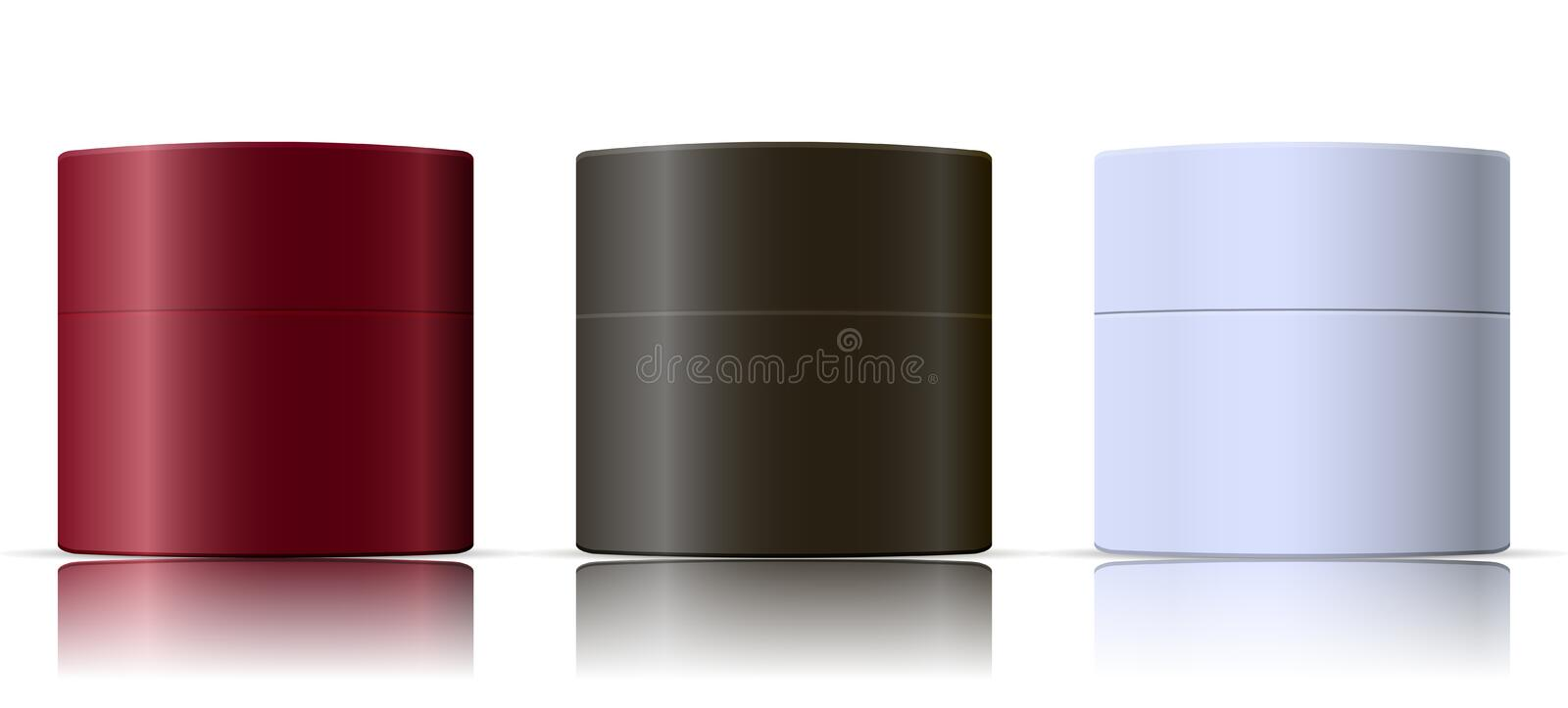 Cosmetic containers mockup set. Skin care beauty royalty free illustration