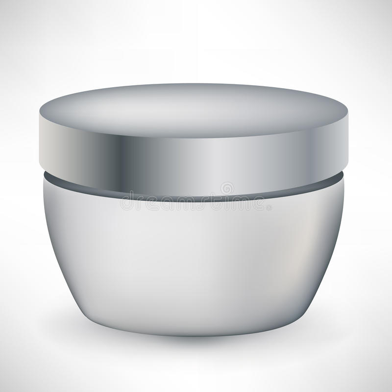 Cosmetic cream container isolated royalty free illustration