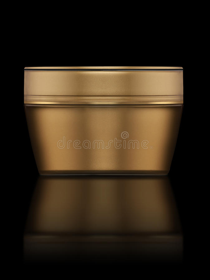 Cosmetic cream. Image is posed on dark background royalty free stock images