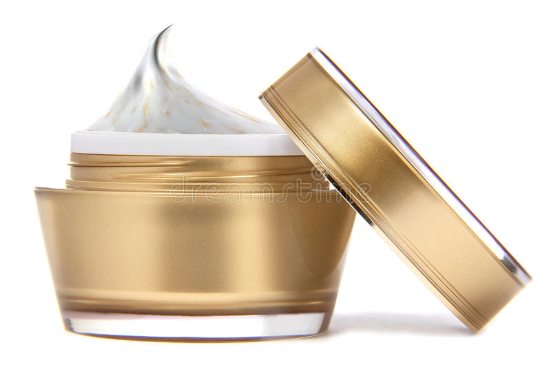 Cosmetic cream. Image is posed on white background royalty free stock photography