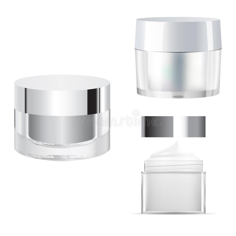 Free Cosmetic Cream Jar Mcokup. Glass Creme Packaging Royalty Free Stock Photography - 216313047