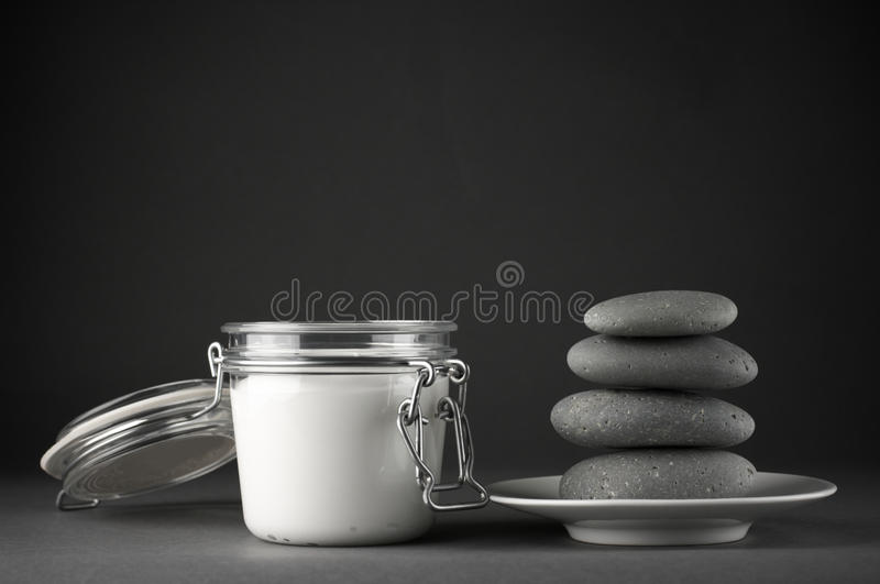 Download Cosmetic Cream And Stones Stock Images - Image: 17974834