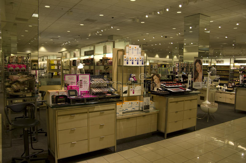 Cosmetic department store royalty free stock photos