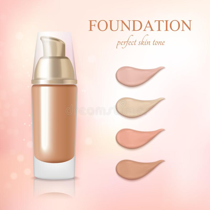 Cosmetic Foundation Concealer Cream Realistic stock illustration