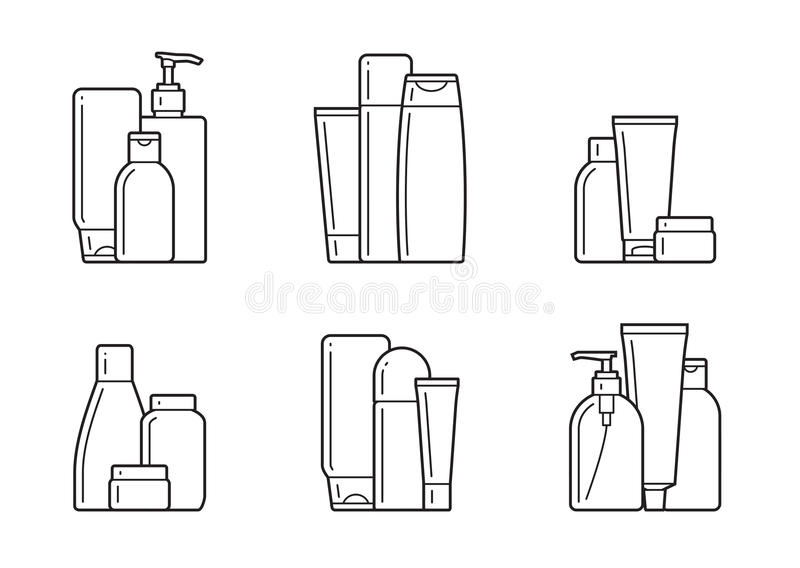 cosmetic Icônes plates illustration stock