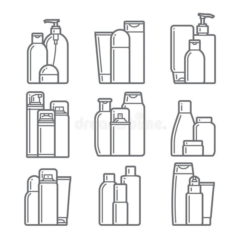 cosmetic Icônes plates illustration libre de droits
